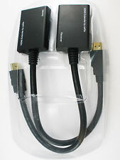 Practical HDMI Over RJ45 CAT5e CAT6 Ethernet Balun Extender Repeater Up to 1080P