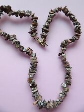 REALLY UNUSUAL LEOPARD JASPER FREEFORM TUMBLED CHIP NECKLACE 20 INCHES