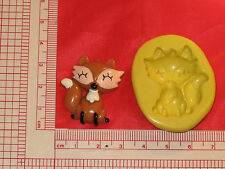 Fox Wolf Flexible Silicone Push Mold Polymer Clay Plaster 434 Resin Miniature