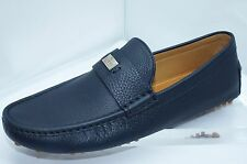 Gucci Men's Shoes Blue Loafers Drivers Size G 11 Camelot Leather Slip Ons NIB