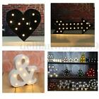 Metal LED Marquee Letters & Symbols Lights Lamp Sign Vintage Circus Style Black