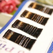 BLACK 56 Pcs invisible Hair Clips Flat Top Bobby Pins Grips Salon Barrette