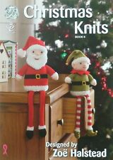 KNITTING PATTERN BOOK Christmas Knits 4 Xmas Pudding Cushion Santa King Cole