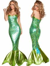 Adult Mermaid Fancy Dresses Cosplay Women Halloween Costume Party Masquerade