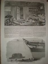 HMS Merlin mess room & Charles Babbage submarine idea 1855 prints
