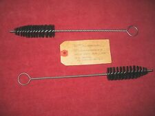 2 - ORG. WW II THOMPSON .45 CAL. M-6 CHAMBER CLEANING BRUSHES DATED 1/8/43