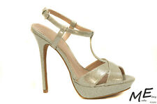 New Charles by Charles David Tangy Pump Women Silver Sandals Sz10 (MSRP $130)