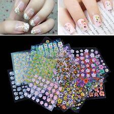 140 Stickers fiori colorati nail art adesivi decorazioni unghie stikers