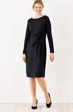 Womens J. JILL LT BLACK WEAREVER TIE-FRONT DRESS Large-tall size