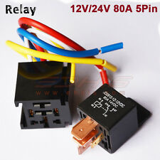 C04S Automotive Car Relay w/ Socket 12V 80A AMP 5Pin DC SPDT Car Starter Relays
