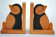 2 x Wooden Book Stand a MILANCO Products Design Hand Made in England Bird Theme