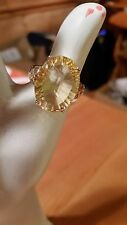 Sterling silver sz 10 ring with citrine stone