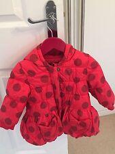 Filles rouge catimini puffa manteau d'hiver avec capuche-âge 18 mois