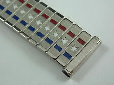 Vintage NOS America stars and stripes stainless steel watch band 17.5mm or 11/16