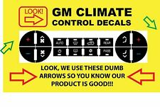 2008-2011 Buick Enclave AC Button Repair Climate Control Decal Set