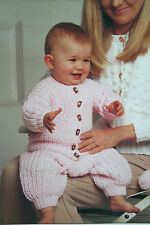 Baby's Cardigan Trousers and Bobble Hat Knitting Pattern