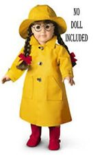 American Girl Molly's Winter Outfit Rain Slicker Coat & Hat Galoshes Umbrella