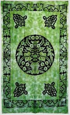 Green Man Light Bedspread: Tapestry, Wall Hanging / Altar Cloth 72 x 108