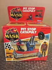"""Vintage 1987 Kenner M.A.S.K. 1987 """"PIT STOP CATAPULT w/ SLY RAX"""" SEALED BOX Mask"""