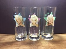 Marilyn Monroe Glasses Lot Of 3 Marilyn Monroe LLC Collins Clear Drinking Glass
