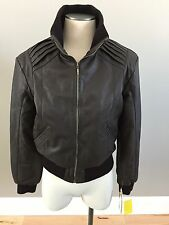 NWT Infinity Brown Bomer Leather Jacket- Womens XL