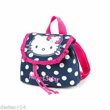 Hello Kitty Navy and Pink Polka Dot Mini Backpack Bookbag Sanrio NWT