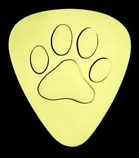 PAW (Dog/Cat) - Solid Brass Guitar Pick, Acoustic, Electric, Bass