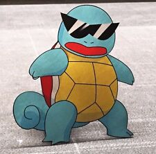 Limited Edition Pokemon GO Squirtle Squad Leader Metal Laser Cut and Print