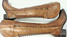 VINCE CAMUTO BILCO WOMENS LADIES BOOT SIZE 6 BROWN STUDED DESIGN
