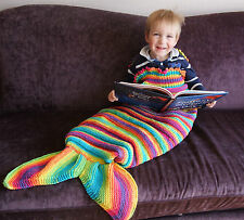 KNITTING PATTERN (PAPERS ONLY) TO MAKE 'SPLASH' MERMAID TAIL COCOONS IN 3 SIZES.