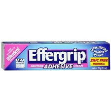 Effergrip Denture Adhesive Cream: 1.5 OZ: 2 packs