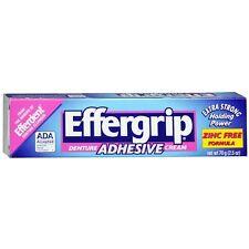 Effergrip Denture Adhesive Cream: 1.5 OZ: 2 packs