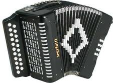 Scarlatti 2 rangs D/G ACCORDÉON DIATONIQUE,noir. English/Morris squeezebox de