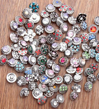 wholesale 50pcs 12mm Interchangeable metal Buttons Snap Charms chunk Jewelry 4