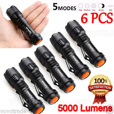 6PC 5000LM CREE Q5 AA/14500 5 Modes ZOOMABLE LED Flashlight Torch Bright
