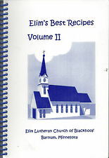 *BARNUM MN 2001 ELIM LUTHERAN CHURCH OF BLACKHOOF COOK BOOK *BEST RECIPES II