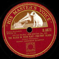 BENNY GOODMAN QUARTET  The Blues in your flat / The Blues in my flat 78rpm X1285