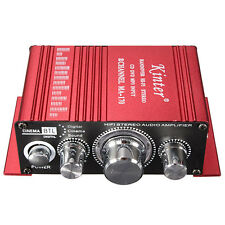 Mini 2CH Auto Home 2CH Hi-Fi Stereo Car Amplifier CD DVD MP3 Player Booster 12V