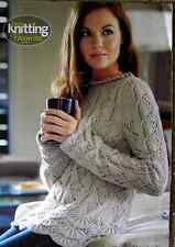 "LADIES SWEATER /LACY TUNIC DK  KNITTING PATTERN CHEST SIZE 32""- 42"""