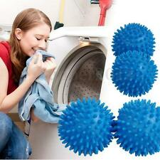 4pcs Blue Dryer Balls Washing Laundry Drying Fabric Fabrics Softener Clean Hot