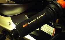 Cream Carbon Rechargeable Heated Over Grips - Fits BMW Motorcycles
