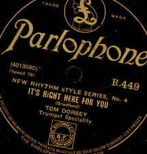 Tommy Dorsey-trumpet-It 's right here for you/Jimmy Dorsey Beebe 78rpm x2814