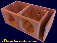 CUSTOM DUAL JL AUDIO 10W7/10W7AE SUBWOOFER ENCLOSURE/SUB BOX PORTED/VENTED