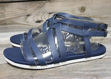 TEVA Womens Avalina Crossover Leather Navy Strappy Sandals US 8 NEW!