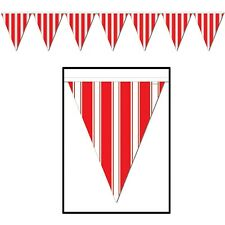 "Striped Pennant Banner 10"" x 12' / 1 PC / CARNIVAL PARTY (B57520)"