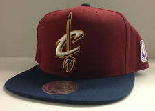 Cleveland Cavaliers Cavs Mitchell & Ness Snapback Hat Cap Big XL Logo 2 Tone