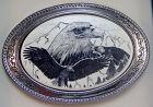 Belt Buckle Barlow Scrimshaw Carved Painted Art Eagle Portrait Western 592689