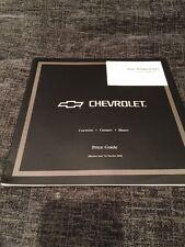 2000 Chevrolet Blazer Corvette Camaro UK Car Price Guide Brochure