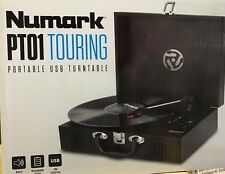Numark PT01 Touring | Classically-styled Suitcase Turntable with USB Port