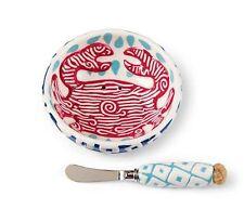 "Mud Pie Ceramic ""Crab Dip Bowl Set""Anchors Aweigh Collection"